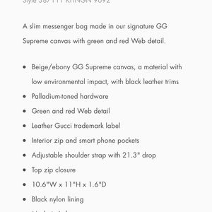 Gucci Bags - Gucci GG messenger bag awesome condition